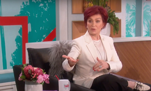 "Sharon Osbourne hosting ""The Talk"" in March 2021"