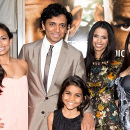 """The Shyamalan family at the premiere of """"After Earth"""" in 2013"""