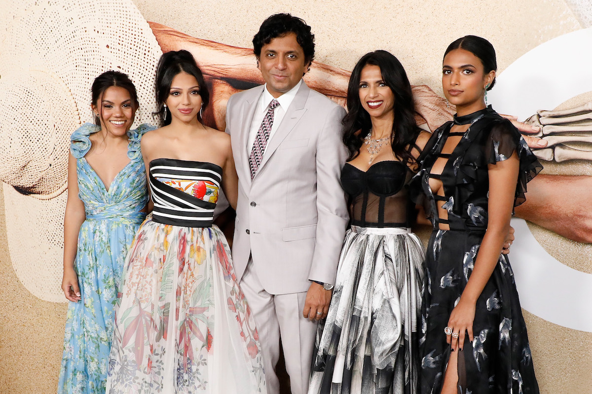 """The Shyamalan family at the premiere of """"Old"""" on July 19, 2021"""