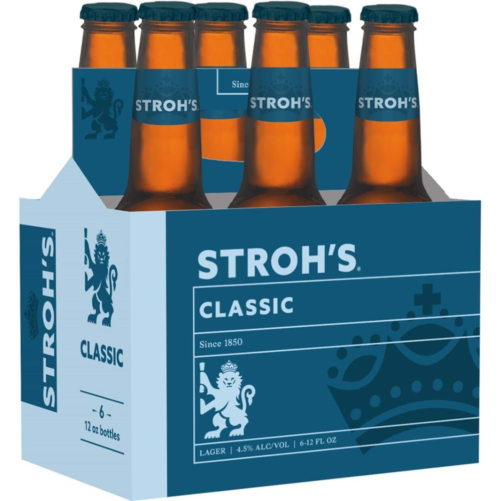 Stroh's six pack of beer