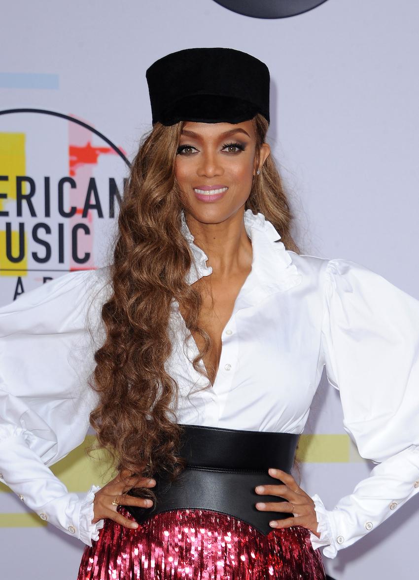 Tyra Banks at the 2018 American Music Awards