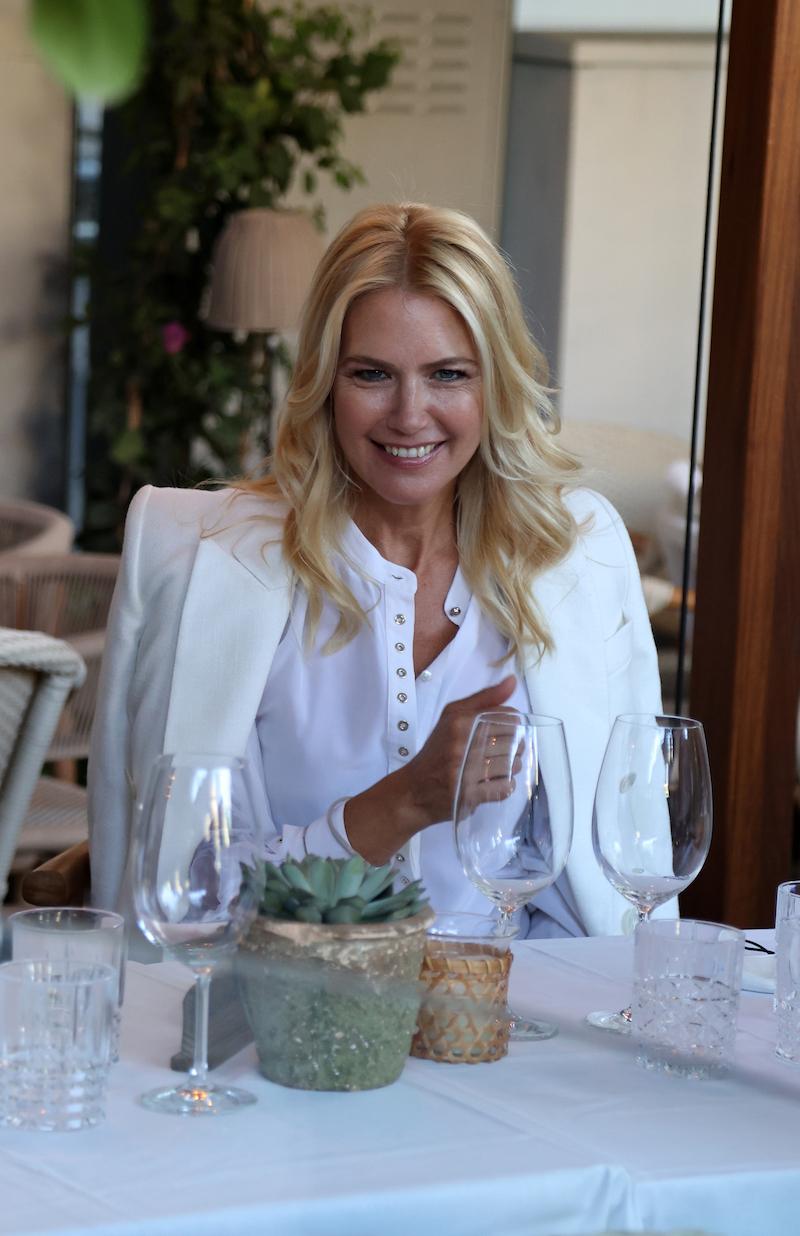 Valeria Mazza at a restaurant in Madrid in May 2021