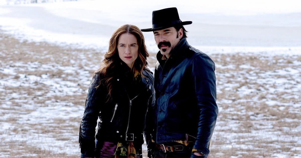 Melanie Scofano and Tim Rozon on Wynonna Earp