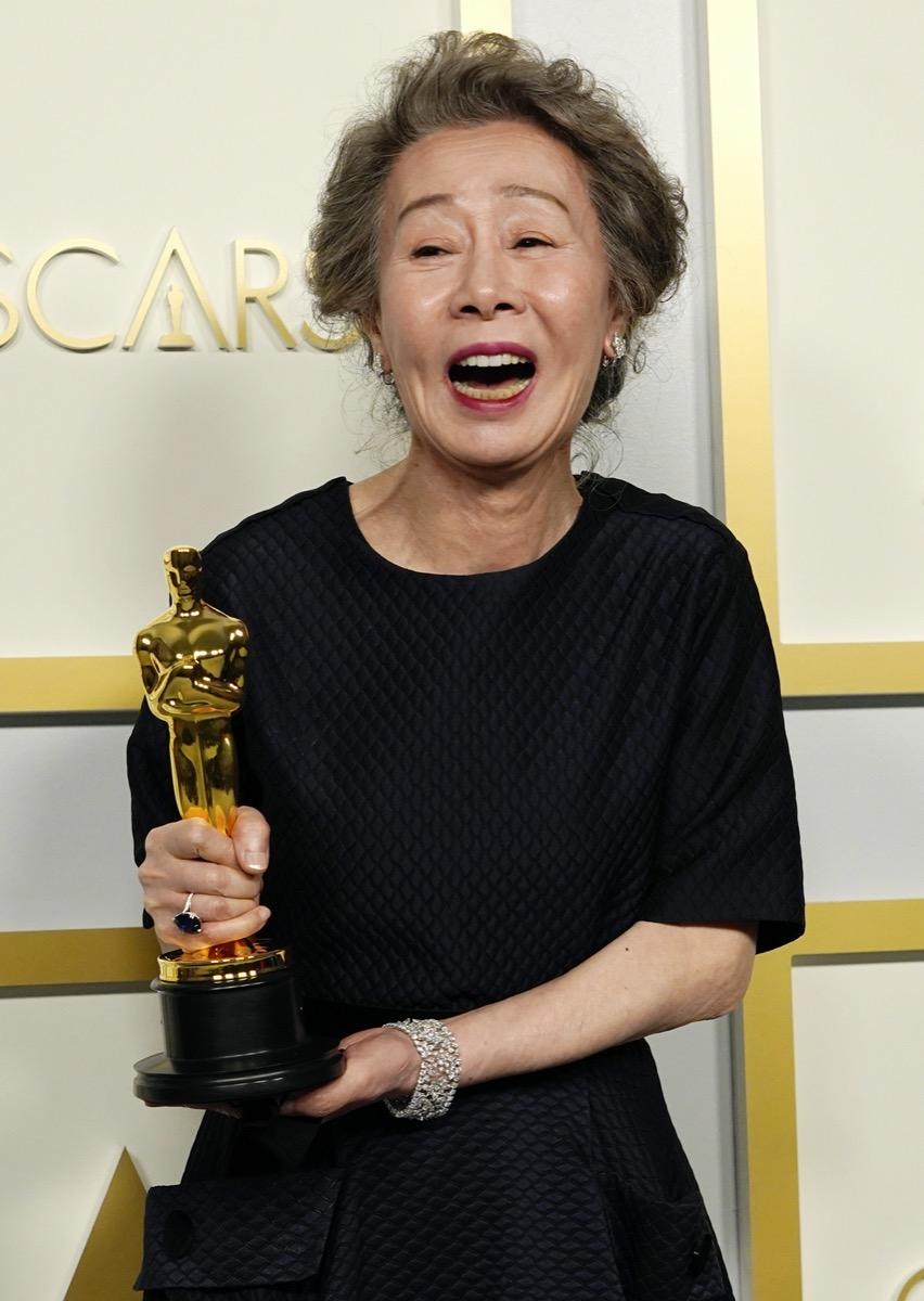 Youn Yuh-jung at the Academy Awards