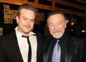 Zak Williams and Robin Williams at The Comedy Awards in 2012