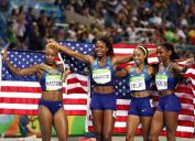 on Day 15 of the Rio 2016 Olympic Games at the Olympic Stadium on August 20, 2016 in Rio de Janeiro, Brazil.