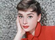 Audrey Hepburn poses for a publicity still circa 1957.