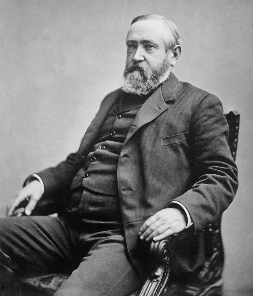 President Benjamin Harrison sitting for a portrait