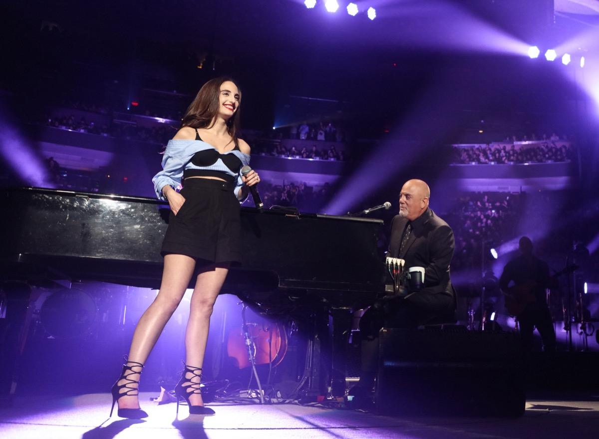 Billy Joel and Alexa Ray Joel in 2018
