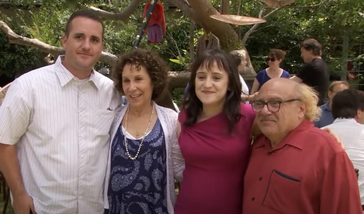 """Brian Levinson, Rhea Thompson, Mara Wilson, and Danny DeVito at """"Matilda"""" Reunion"""