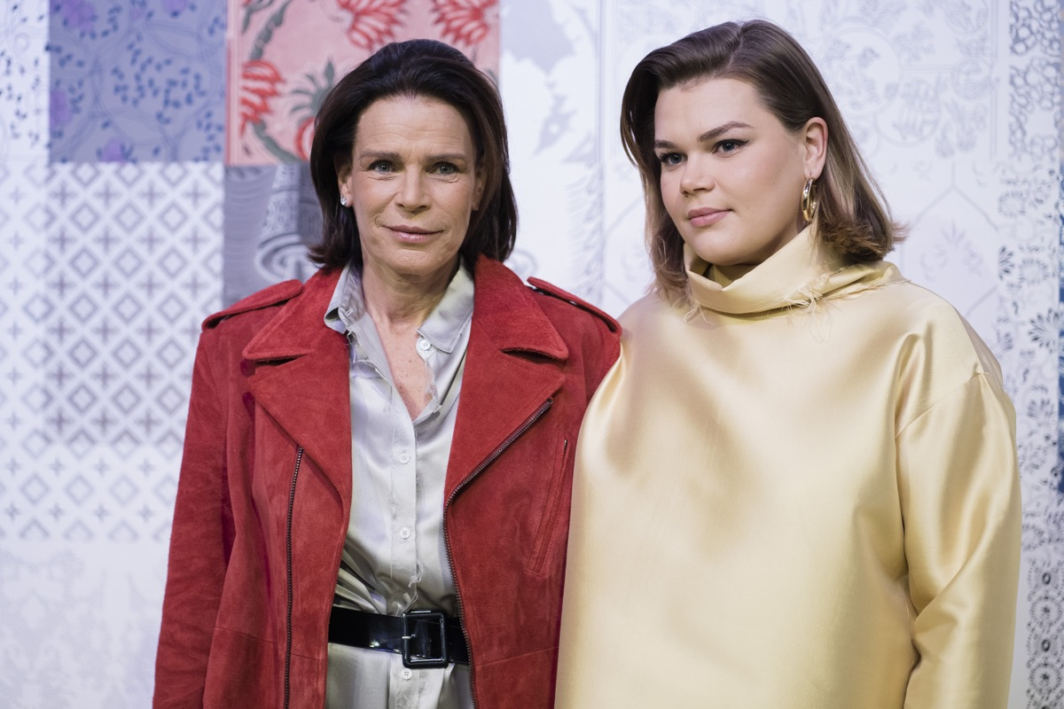 PARIS, FRANCE - FEBRUARY 26: (EDITORIAL USE ONLY) Princess Stephanie of Monaco and Camille Gottlieb attend the Alter show as part of the Paris Fashion Week Womenswear Fall/Winter 2020/2021 on February 26, 2020 in Paris, France.