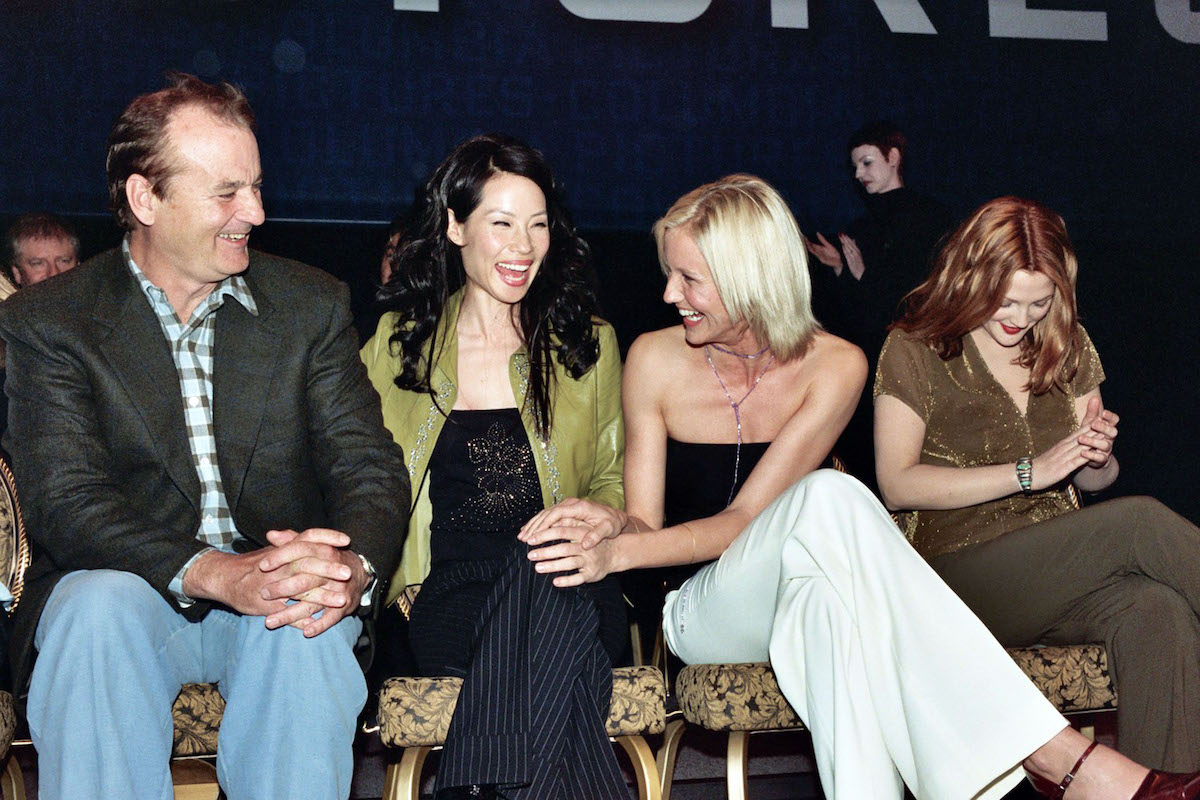 Bill Murray, Lucy Liu, Cameron Diaz, and Drew Barrymore at the 2000 NATO/Showest Convention