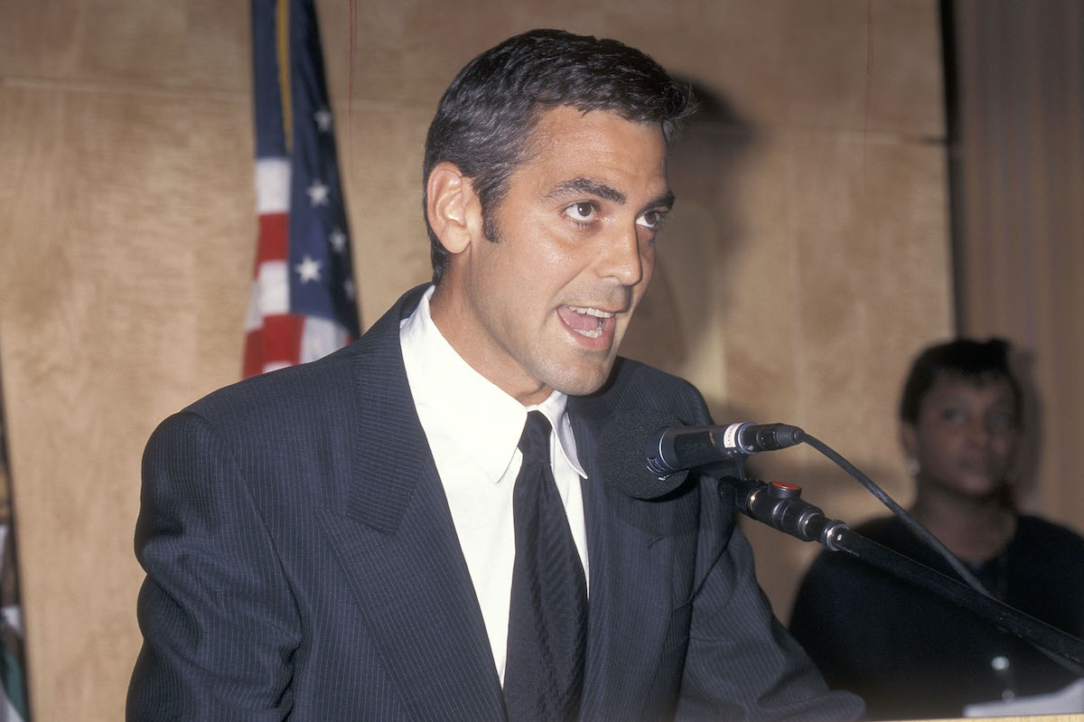 Actor George Clooney speaks out against the paparazzi and tabloids after Princess Diana's death on September 2, 1997 in Los Angeles, California.