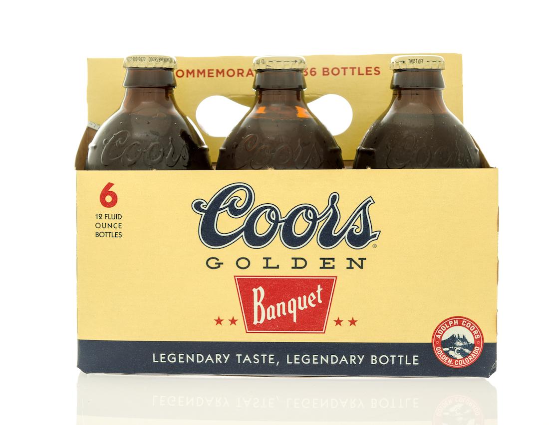 Six pack of Coor's original beer.