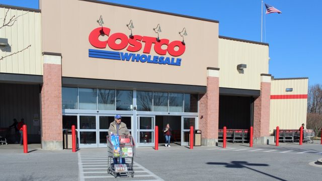 Glen Mills, PA/USA - March 6, 2020: Costco Wholesale in Glen Mills, PA.