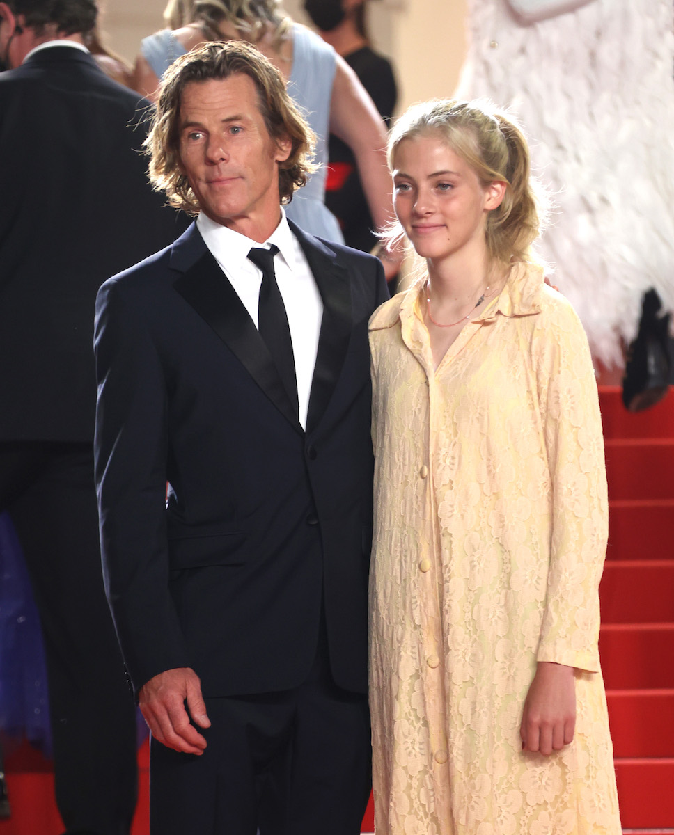 """Hazel Moder and Daniel Moder attend the """"Flag Day"""" screening during the 74th annual Cannes Film Festival on July 10, 2021 in Cannes, France."""