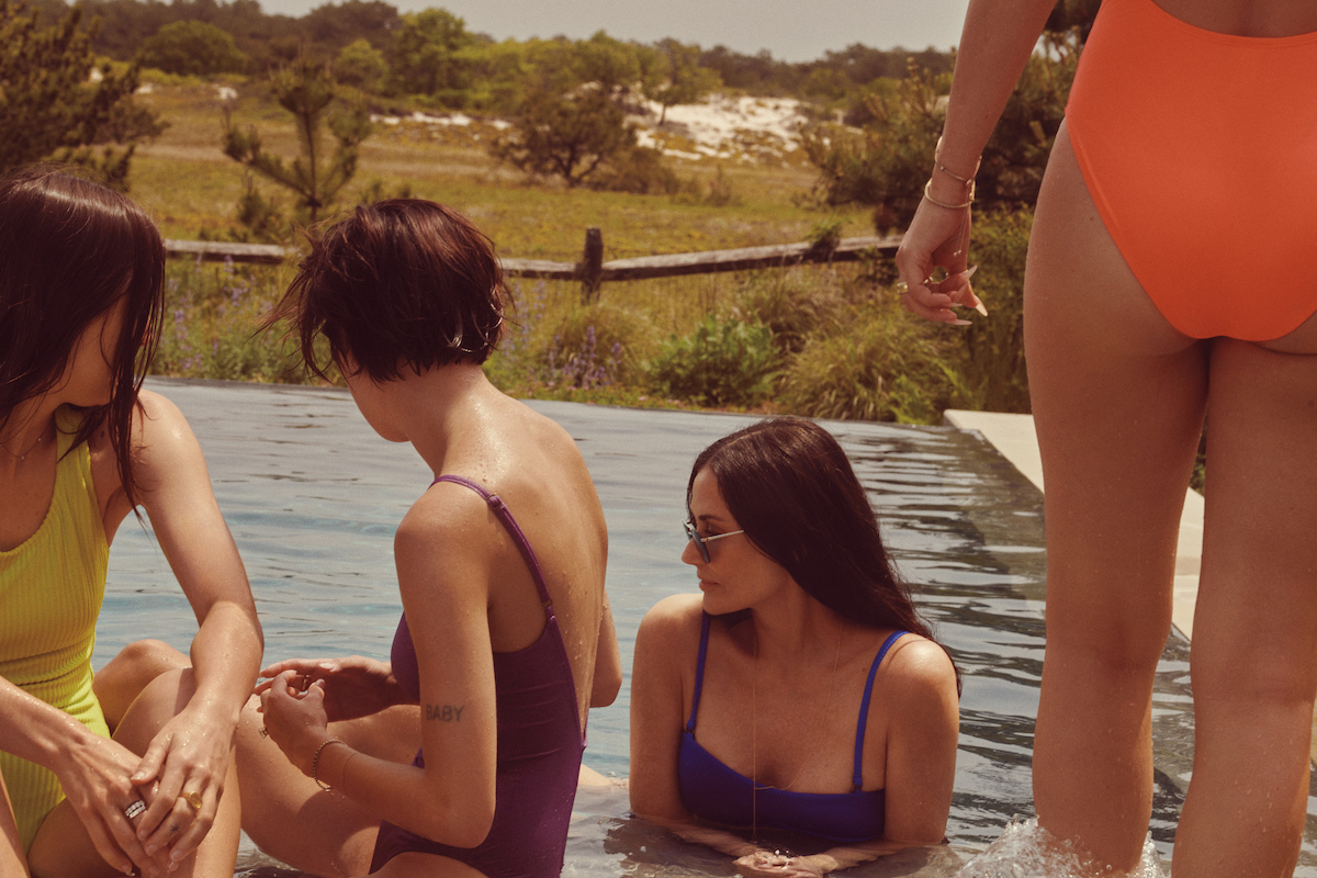 Scout Willis, Tallulah Willis, Demi Moore and Rumer Willis model Andie swimsuits