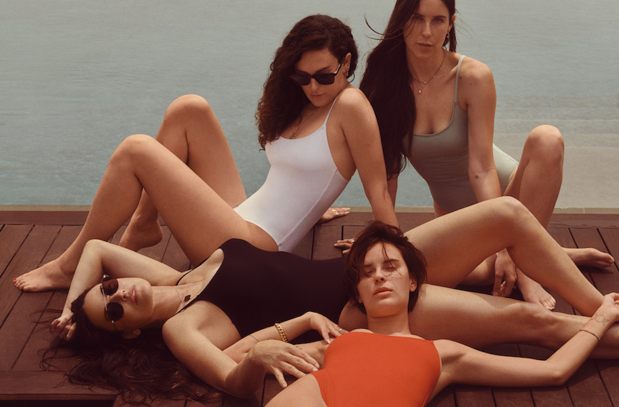 Demi Moore and daughters Scout, Rumer, and Tallulah Willis model Andie swimsuits