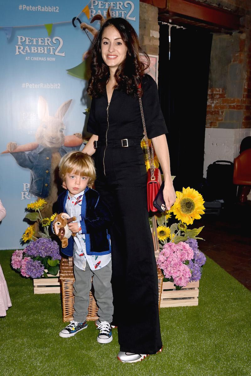 "Deveraux Jagger and Melanie Hamrick at a screening of ""Peter Rabbit 2"" in May 2021"