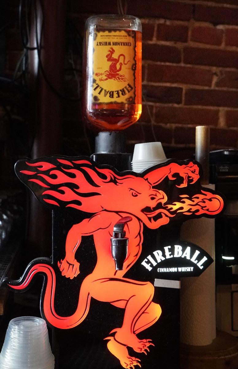 A dispenser for Fireball