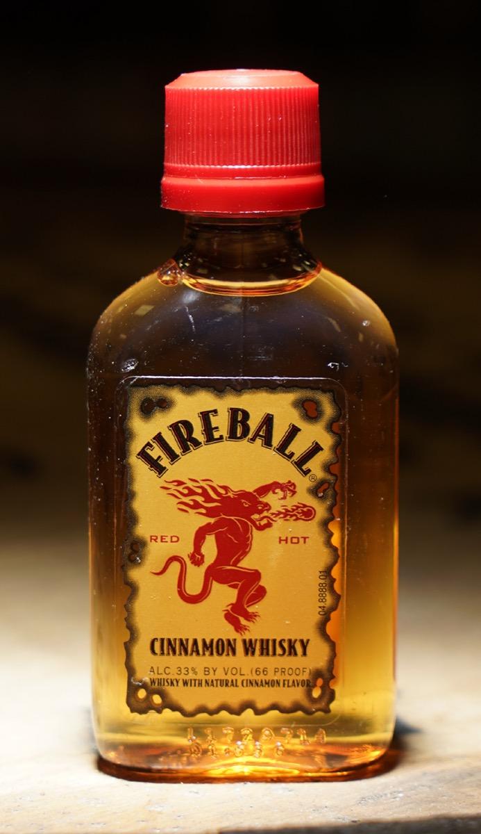 A mini bottle of fireball