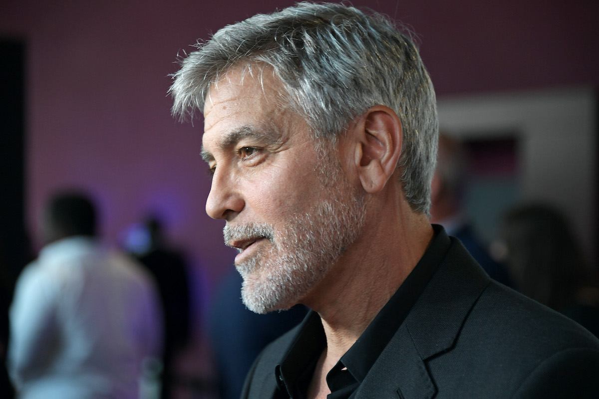 """George Clooney attends the London Premiere of new show """"Catch-22"""" on May 15, 2019 in London, England."""