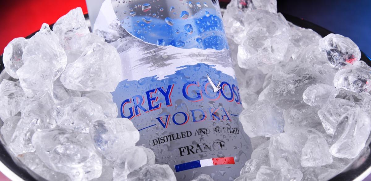 Grey Goose on ice