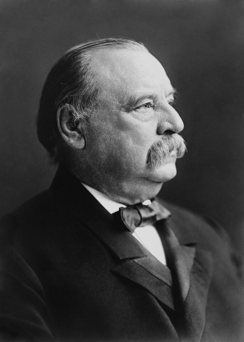 Former President Grover Cleveland, 22nd and 24th US President in 1903 photo by Frederick Gutekunst.