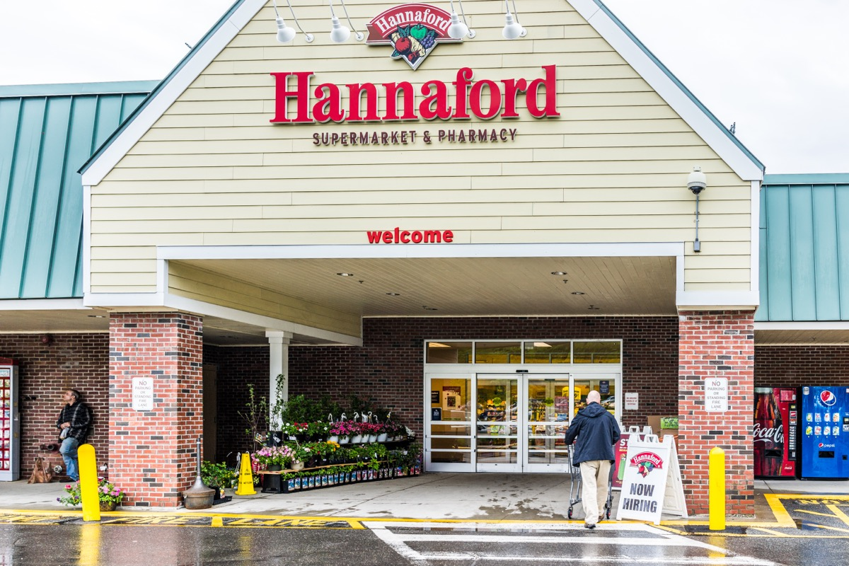 exterior to hannaford supermarket and pharmacy