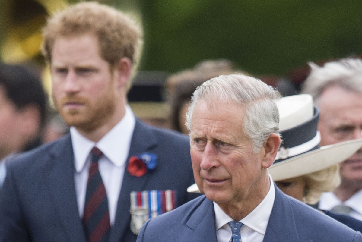 Prince Charles, Prince of Wales and Prince Harry in 2016 in Thiepval, France.