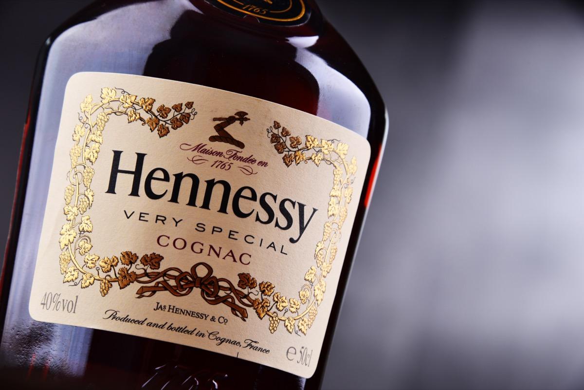 Bottle of Hennessy