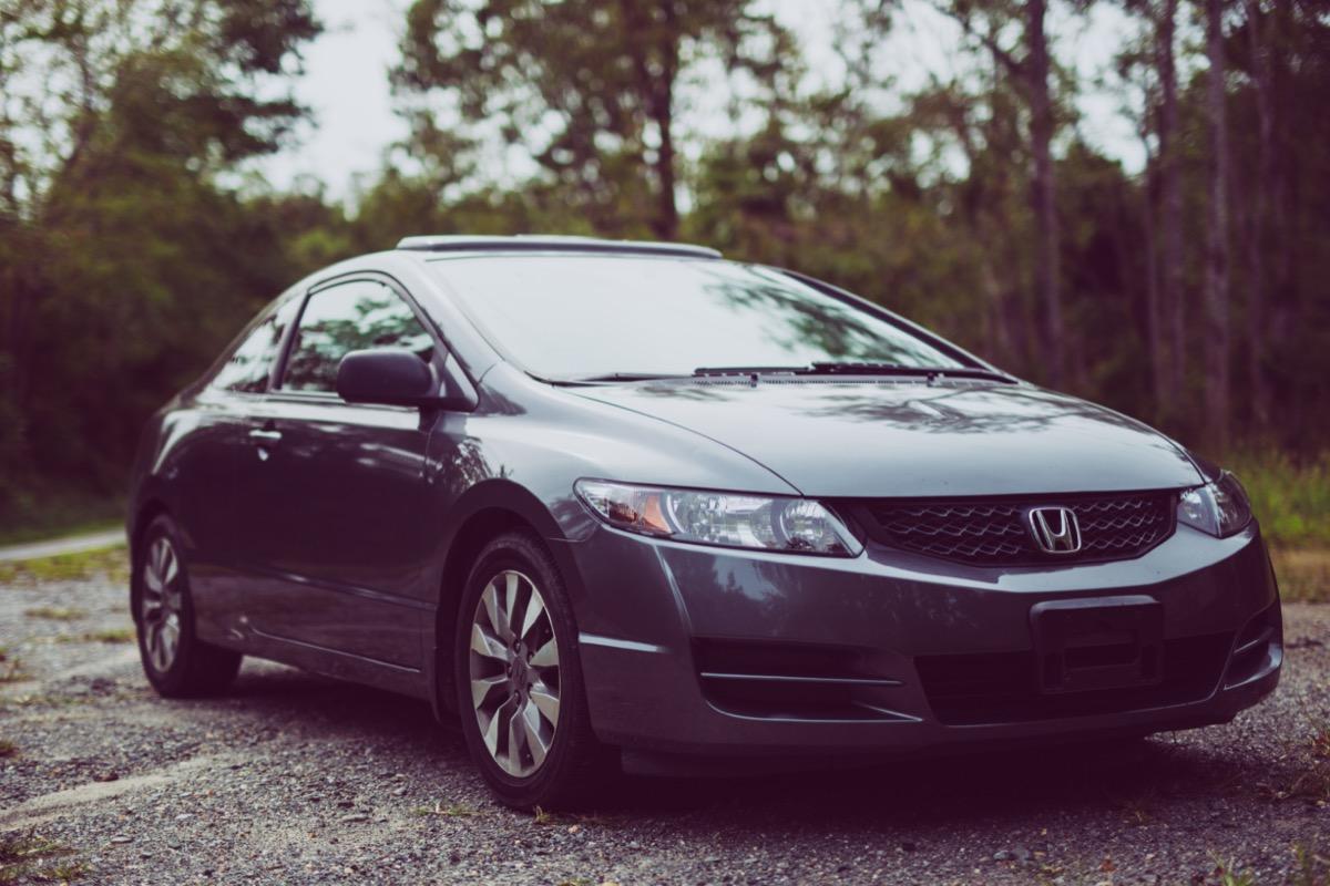 A grey Honda Civic car