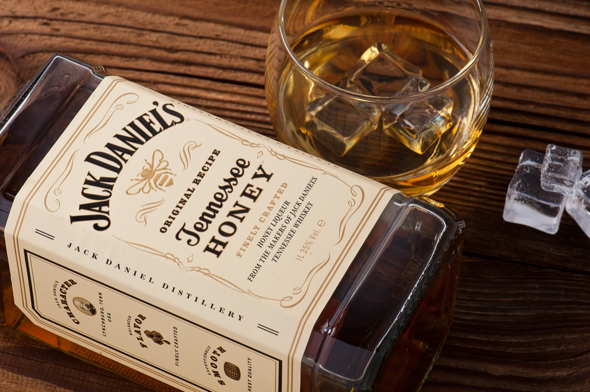 Jack Daniel's bottle and glass