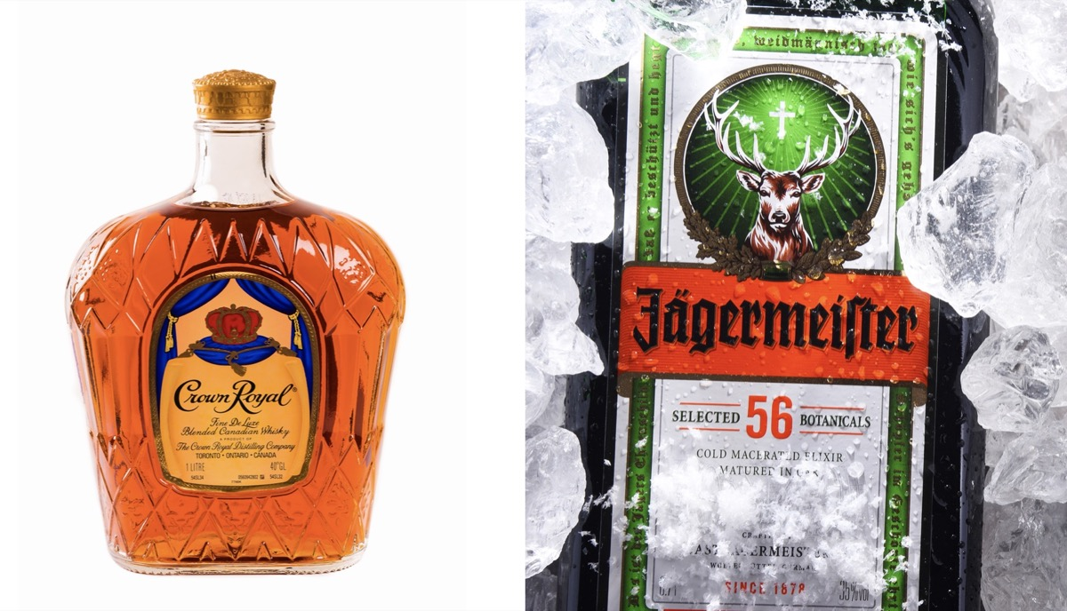 Crown Royal and Jagermiester