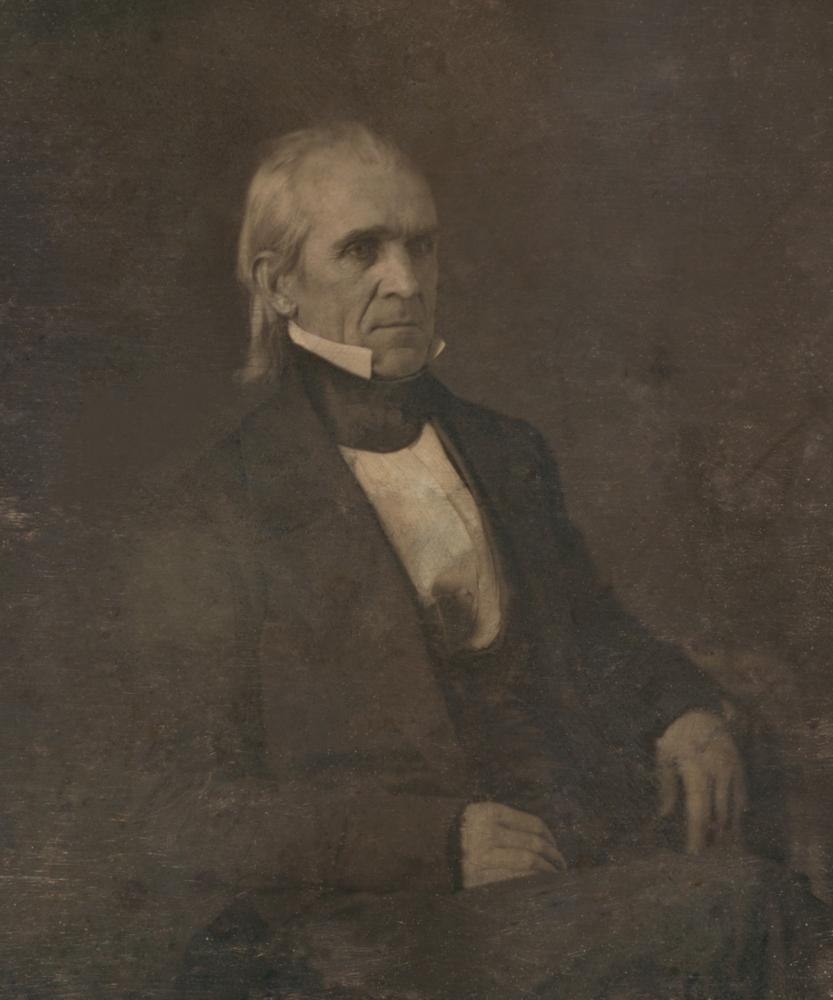 A portrait of president James Polk