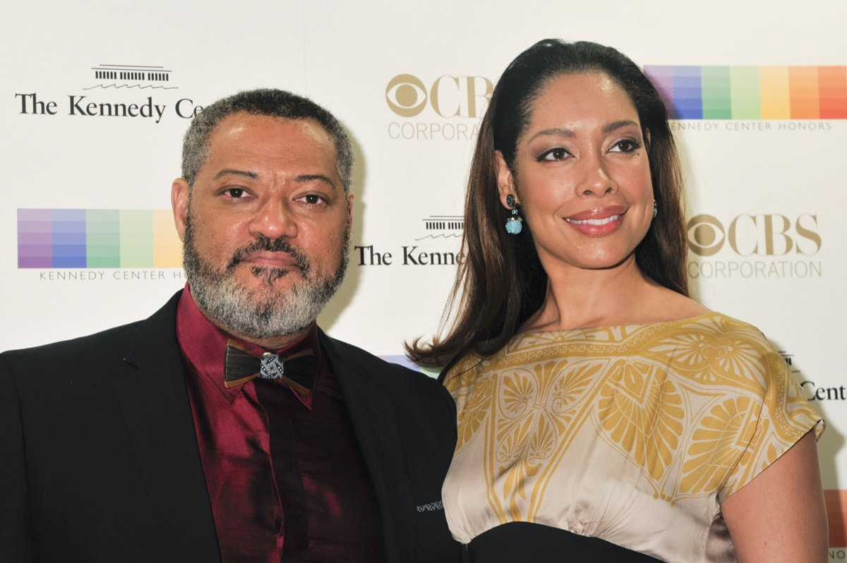 Laurence Fishburne and Gina Torres in 2015