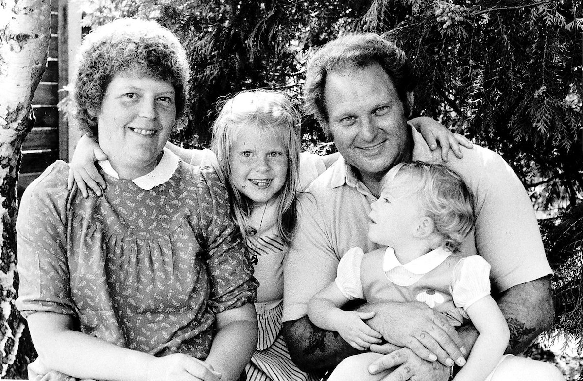 Louise Brown the first test tube baby with her Mother and Father and Sister Circa 1980.