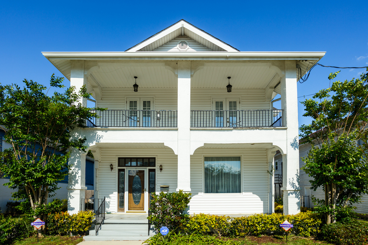 A newly constructed home near New Orleans, LA