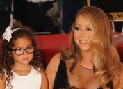 Singer Mariah Carey and her daughter Monroe Cannon as she's honored with Star on the Hollywood Walk of Fame.