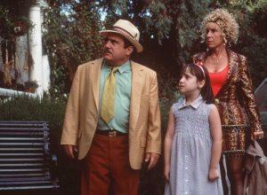 Danny DeVito, Mara Wilson, and Rhea Thompson in Matilda