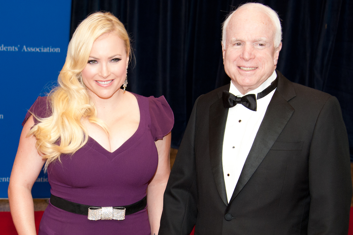 John McCain and Meghan McCain arrive at the White House Correspondents Association Dinner May 3, 2014 in Washington, DC