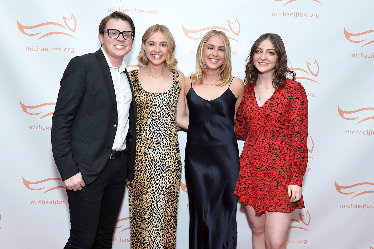 Sam Fox, Schuyler Fox, Aquinnah Fox and Esme Fox attend A Funny Thing Happened On The Way To Cure Parkinson's benefitting The Michael J. Fox Foundation on November 16, 2019 in New York City.