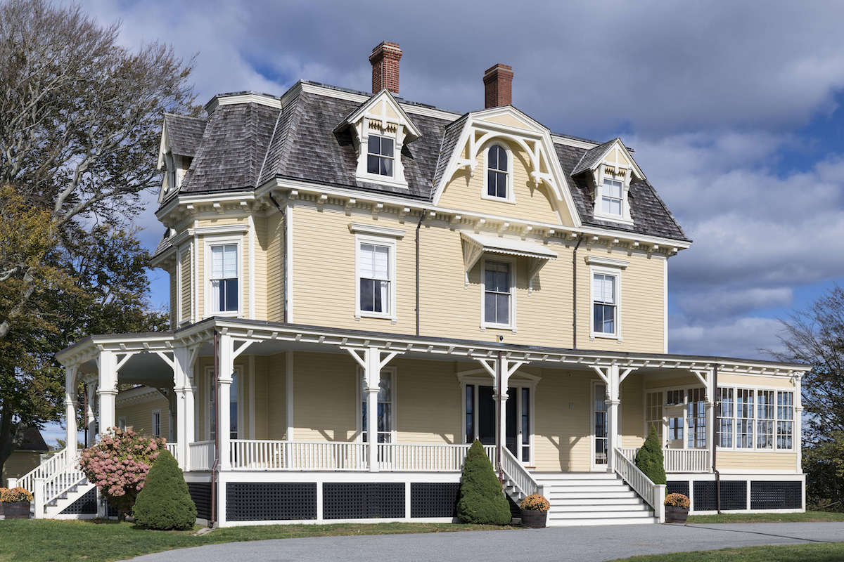 OCEAN DRIVE, NEWPORT, RHODE ISLAND: Historic Eisenhower House, 1873.