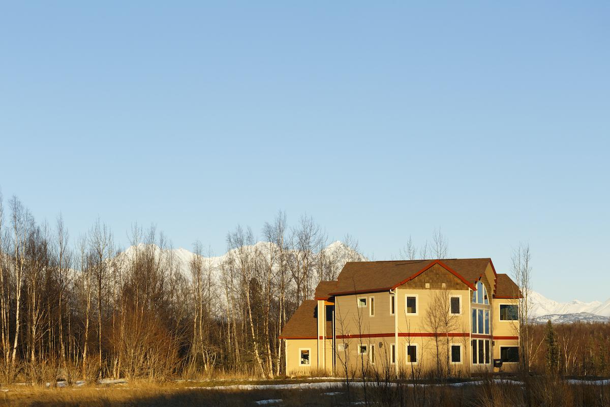 American suburban house in Palmer, Alaska.