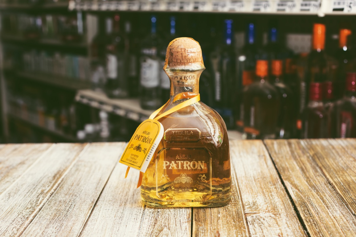Bottle of Patron tequila