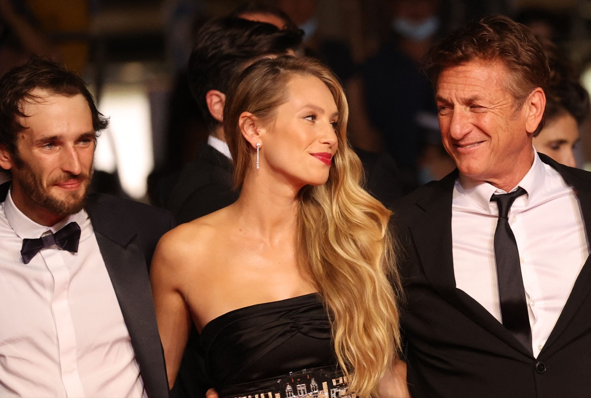 Sean Penn and his children Dylan and Hopper