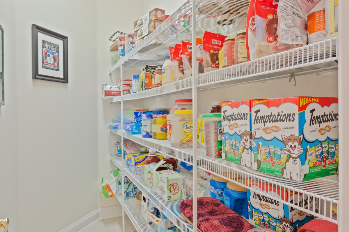 pet food located in someone's home