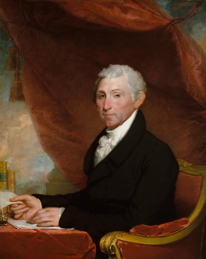 A portrait of President James Monroe