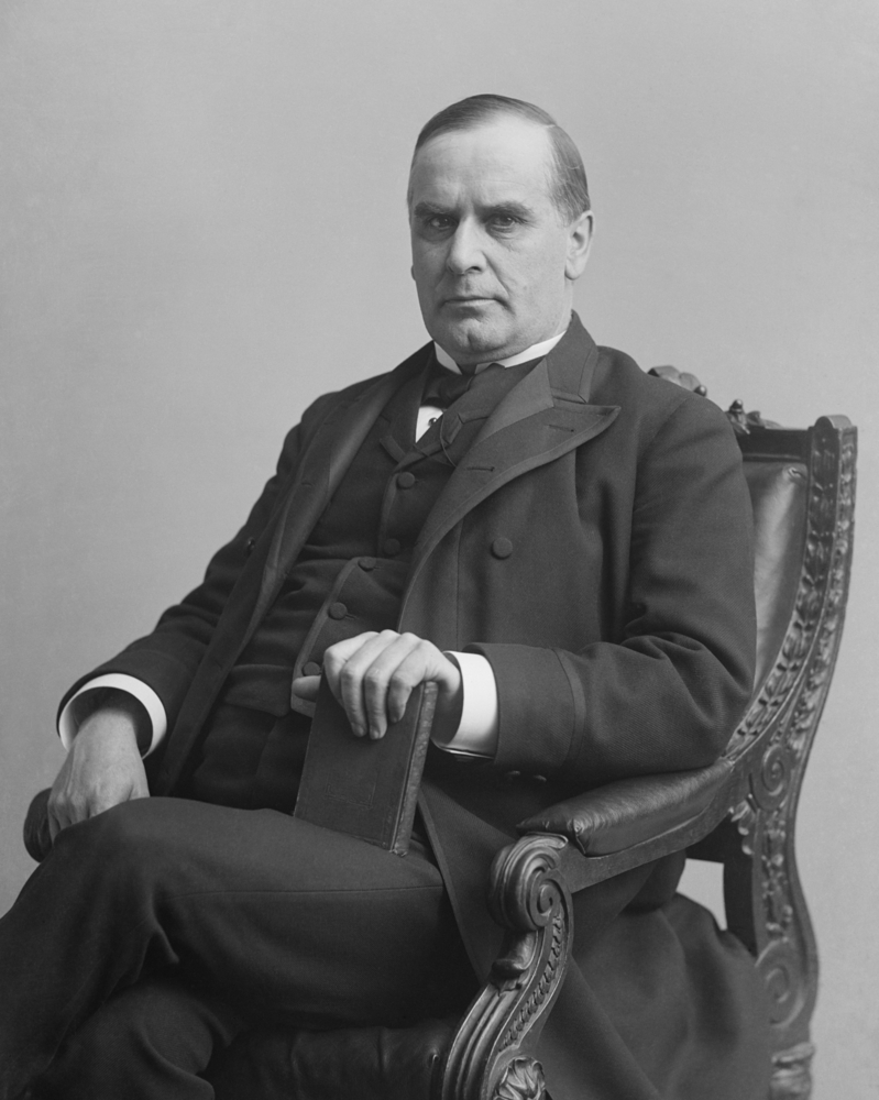 A photo portrait of President William McKinley