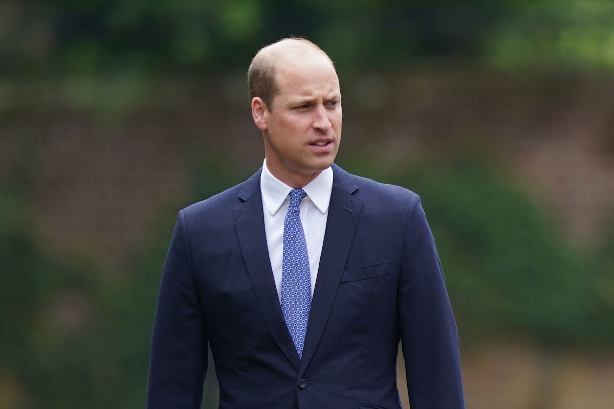 Prince William, Duke of Cambridge arrives for the unveiling of a statue he commissioned with Prince Harry of his mother Diana, Princess of Wales